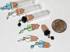 1pc.Crystal ball bead pendant Tube glass cork vial necklace charm bottle New