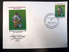 MADAGASCAR  714   PREMIER JOUR FDC     J-O LOS ANGELES  FOOTBALL    100F    1984