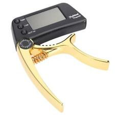 TCapo20 Alloy Guitar Capo Tuner LCD for Acoustic Folk Electric Guitar Bass Z8B8