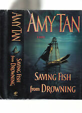 AMY TAN-SAVING FISH FROM DROWNING-LIKE NEW-SIGNED 1ST 2005 HB/DJ SUPERB COLLECTL