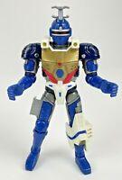 """Vintage Beetleborgs Blue Stinger Action Figure Beetleborg 6"""" Bandai 1996 Saban"""