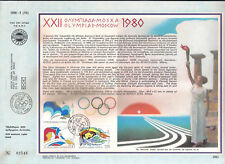 CYPRUS 1980 MOSCOW RUSSIA OLYMPICS GAMES F.DAY CARD SAILING SWIMMING GYMNASTICS