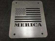 Jeep Wrangler TJ Tailgate Spare Tire Delete Plate 1997-2006 Merica Flag Plate