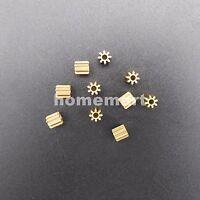 10PCS X Brass Gear 0.5 Modulus T=8 Aperture 1.95mm 8 Teeth Model Accessories 8T