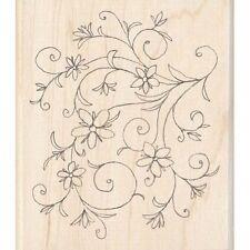 Inkadinkado Rubber Stamp -Floral Flourish Scrapbooking