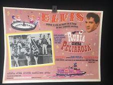 """1966 """"Frankie and Johnny"""" ELVIS PRESLEY Original Mexican Movie Lobby Card -A307"""