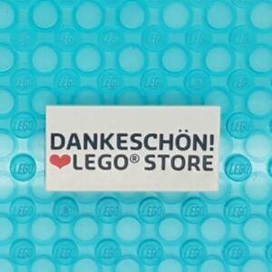 LEGO© Fliese Tile 2x4 Dankeschön! ♥ LEGO Store Deutschland Germany exclusive