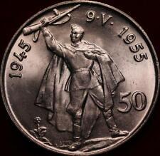 Uncirculated 1955 Czechoslovakia 50 Korun Silver Foreign Coin