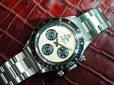 Alpha Daytona Paul Newman Black Insert 3-Registered Chronograph Watch