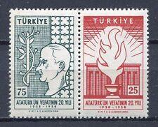 30915) TURKEY 1958 MNH** Ataturk 2v. Scott# 1431a pair