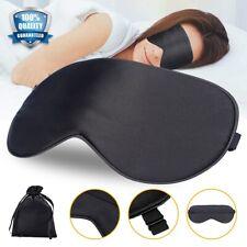 Travel 100% Silk Eye Mask Sleep Soft Shade Cover Rest Relax Sleeping Blindfold