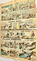 Vintage Sunday Comics Flash Gordon Lone Ranger Popeye 1963 FULL SIZE Full Color