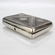 Antique Russian Niello 84 Silver Box For Repair - Sterling SL