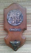 Antik Weihwasserbecken aus Holz und Metall, Nd des Schwere, French religiöse