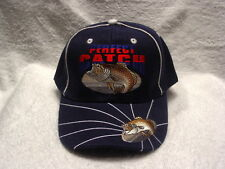 BASS FISH PERFECT CATCH FISHERMAN OUTDOOR BASEBALL CAP HAT ( DARK BLUE )
