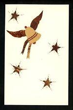 Novelty vintage Wood Add On postcard Handmade in Haiti Greetings bell