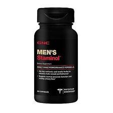 GNC Men's Staminol 60 Capsules Daily Male Performance Dietary Supplement