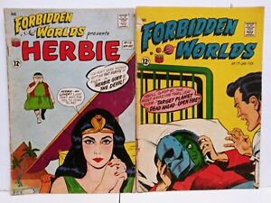 Forbidden Worlds #116 117 ACG Comics (1963) Silver Age Comic Book Lot 2 Herbie