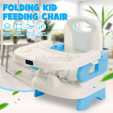Baby Toddler High Chair Foldable Safe Feeding Seat Height Adjustable Blue  US