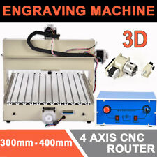 4Axis Cnc 400W 3040T Router Engraver Engraving 3D Woodwork Carver Cutter Machine