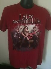 Lady Antebellum Band Own the Night Tour 2012 Red 2 Sided T Shirt Sz M