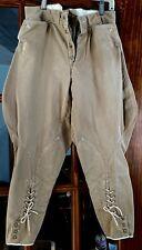 Vintage calvary jodhpur breeches, khaki color twill fabric