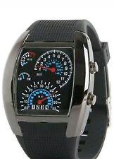 Men's Fashion Black Stainless Steel Luxury Sport Watch Quartz LED