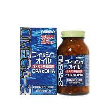 Orihiro Fish oil 180 tablets 45 days Omega-3 fatty acids EPA & DHA From Japan