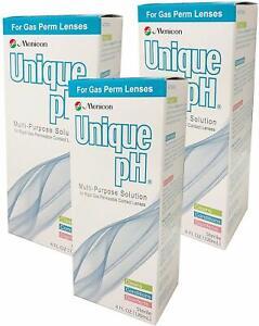 Menicon Unique pH Multi-Purpose Solution with RGP Lens Case (4oz) - 3 Pack