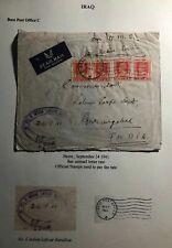 1941 Basra Iraq Indian Labour Batalion OHMS Airmail Cover To Aurangabad