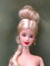 NUDE BARBIE MATTEL STUNNING DANISH COURT PLATINUM HAIR PALE SKIN DOLL 4 OOAK #86