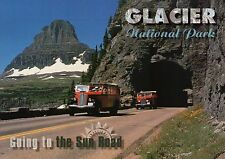 Going to the Sun Road, Glacier National Park Montana, Red Tour Bus MT - Postcard