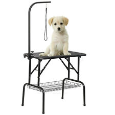 150CM Portable Folding Dog Pet Grooming Bath Table Arm Nonslip w/Loop Noose Mesh
