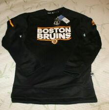 Adidas Mens Boston Bruins NHL Black Authentic ClimaWarm Player Crew sz S NWT $90