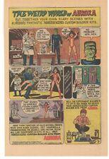1971 Frankenstien The Weird World of AURORA Advertisement