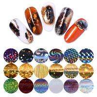 10 Rolls/Box Starry Sky Nail Folien Holographisch Nagel Kunst Transfer Stickers