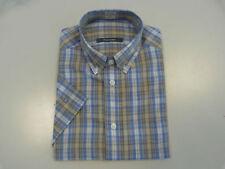 Camicie classiche da uomo a manica corta blu regolare