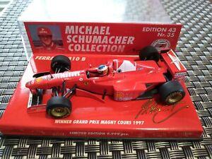 1/43 Minichamps Ferrari F310B M. Schumacher 1997 Winner French GP 🏁🏎🏆