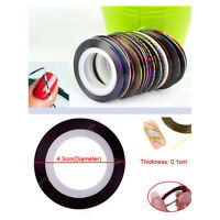 10Pc Women Striping Tape Line Nail Art Sticker Decoration DIY Decals Nail Tips