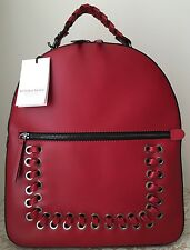 NWT Vittoria Napoli Italy Italian ruga leather Martina backpack red purse bag
