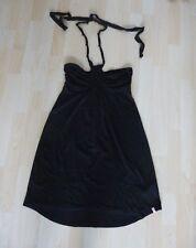 Damenkleid Trägerkleid Neckholder Sommer EDC by Esprit Gr. S schwarz Baumwolle