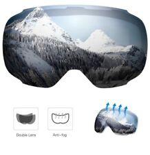 Enkeeo Snow Ski Goggle Anti-Fog Dual Lens 3 Layers UV400 Snowboarding LENS ONLY