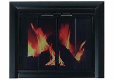 Pleasant Hearth CM-3011 Medium Clairmont Fireplace Glass Door, Black
