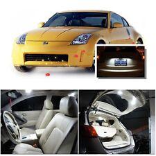 For Nissan 350Z 2003-2009 Xenon White LED Interior kit + White License Light LED