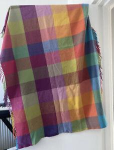 Lambswool blanket Irish Avoca Multicoloured
