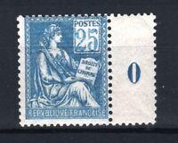 "FRANCE STAMP TIMBRE YVERT 114 "" MOUCHON 25c BLEU TYPE I 1900 "" NEUF xx TTB R932"