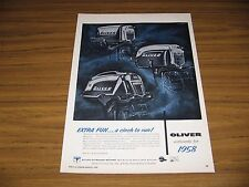 1958 Print Ad Oliver Outboard Motors 6 HP-16 HP- 35 HP Olympus Battle Creek,MI