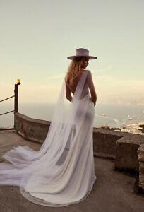Bridal Wedding Cape Veils White Ivory Tulle 2 pcs Shoulder Veil Accessories Long