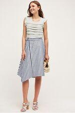 NEW Anthropologie Sea Stripe Skirt Size 10