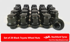 Black OE Style Wheel Nuts 20 12x1.5 Nuts For Toyota Corolla Verso Mk3 04-09